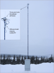 Типовое размещение точки доступа MOTOMESH и абонентского модуля Canopy